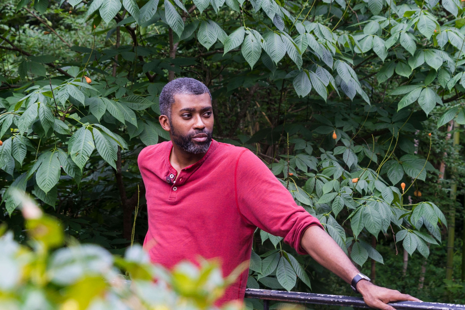 Black-Gentleman-in-Outdoor-Photo-Session-Cantor-Woods-At-first-Sight-by-JM