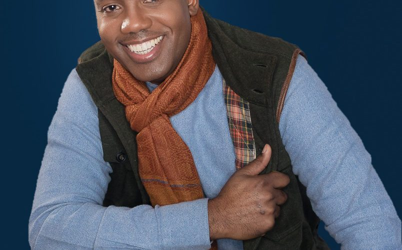 casual portrait of smiling black man